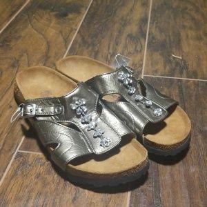 Betula birkenstocks gold bling size 11 sandals
